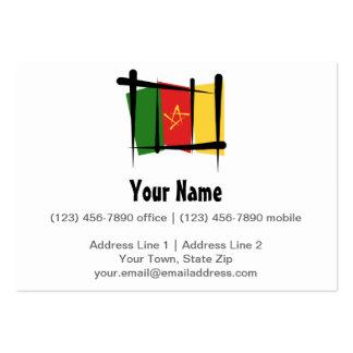 Bandera del cepillo del Camerún Tarjetas De Visita Grandes
