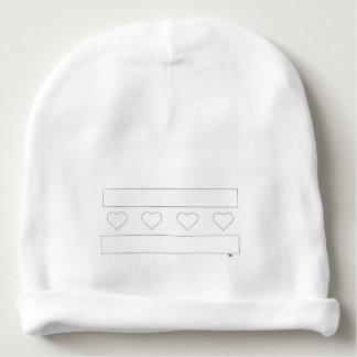 Bandera del corazón de Chicago - esquema del lápiz Gorrito Para Bebe
