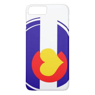 Bandera del corazón de Colorado Funda iPhone 7 Plus