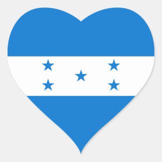 Bandera del corazón de Honduras/del Honduran Pegatina En Forma De Corazón
