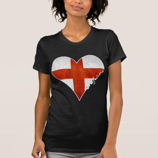 Bandera del corazón de Inglaterra Camisetas