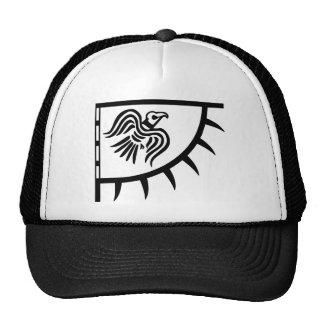 Bandera del cuervo del negro de Viking Gorro