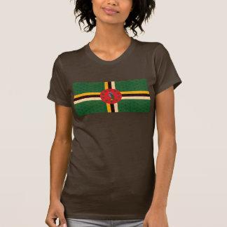 Bandera del Dominican del modelo del vintage Camiseta