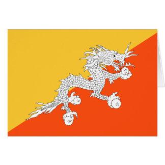 Bandera del dragón del trueno de Bhután Tarjeta Pequeña
