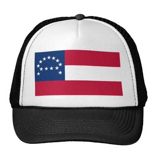 Bandera del ejército confederado de Virginia septe Gorros Bordados