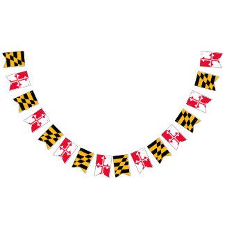 Bandera del empavesado de la bandera de Maryland -