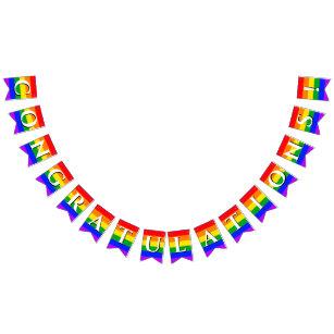 Bandera del empavesado del arco iris del orgullo