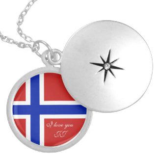 Bandera del escandinavo de Noruega Dije