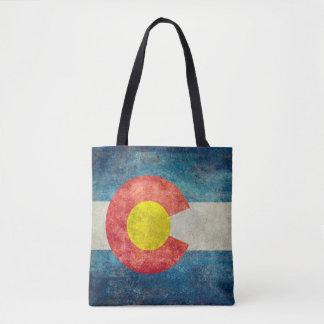 Bandera del estado de Colorado con mirada sucia Bolsa De Tela