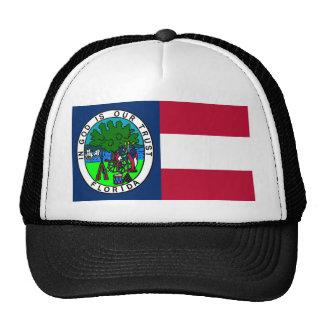 Bandera del estado de la Florida confederado 1861 Gorras De Camionero