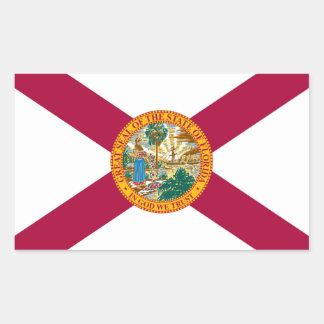 Bandera del estado de la Florida Pegatina Rectangular