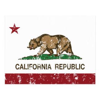 Bandera del estado de la república de California Tarjetas Postales