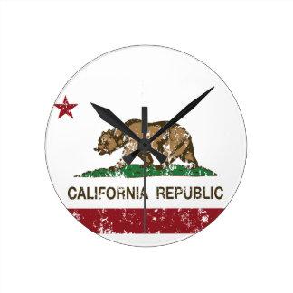 bandera del estado de la república de la bandera d reloj redondo mediano