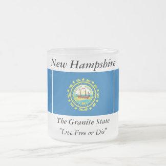 Bandera del estado de New Hampshire Taza De Cristal