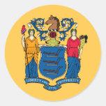 Bandera del estado de New Jersey Etiquetas Redondas