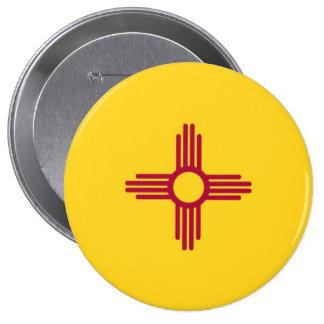 Bandera del estado de New México Chapa Redonda De 10 Cm