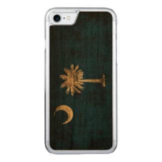 Bandera del estado del Grunge del vintage de Funda Para iPhone 8/7 De Carved