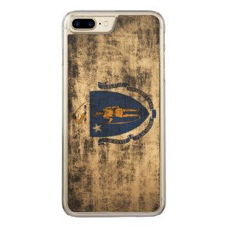 Bandera del estado del Grunge del vintage de Funda Para iPhone 8 Plus/7 Plus De Carved