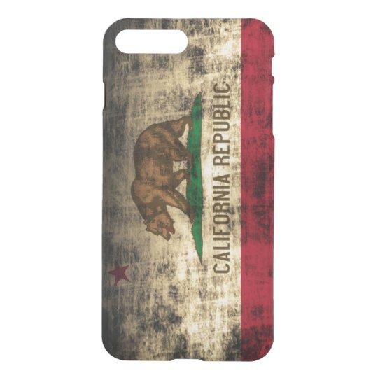 Bandera del estado del Grunge del vintage de la Funda Para iPhone 7 Plus