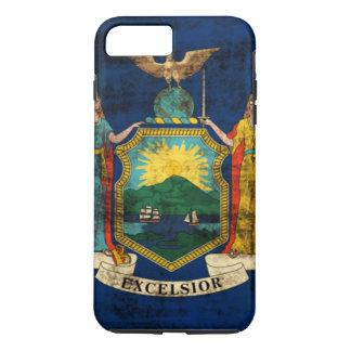 Bandera del estado del Grunge del vintage de Nueva Funda iPhone 7 Plus