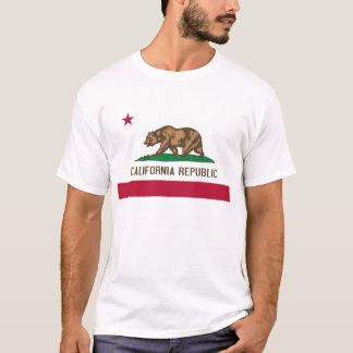 Bandera del estado del oso de la república de camiseta