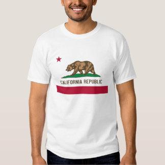 Bandera del estado del oso de la república de camisetas
