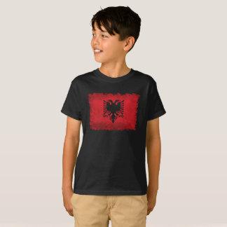 Bandera del estilo retro del vintage de Albania Camiseta