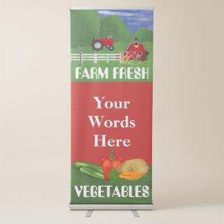 Bandera del festival del negocio de las verduras pancartas retráctiles