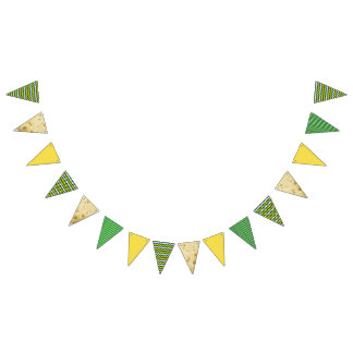 Bandera del fiesta del oro verde de los colores