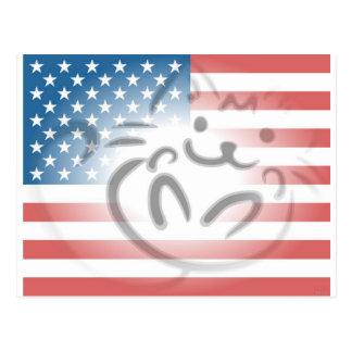 bandera del gato postal