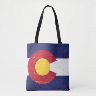 Bandera del Grunge de Colorado Bolsa De Tela