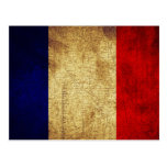 Bandera del Grunge de Francia Tarjeta Postal