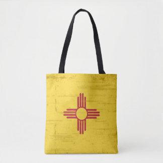 Bandera del grunge de New México. Bandera de New Bolsa De Tela