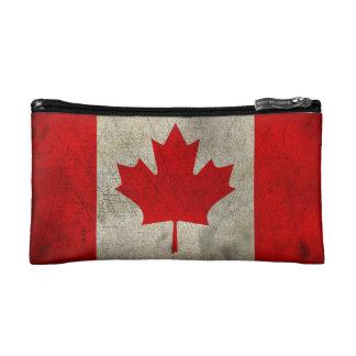 Bandera del Grunge del vintage de Canadá Estuche De Maquillaje