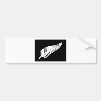 Bandera del helecho de plata de Nueva Zelanda Pegatina Para Coche
