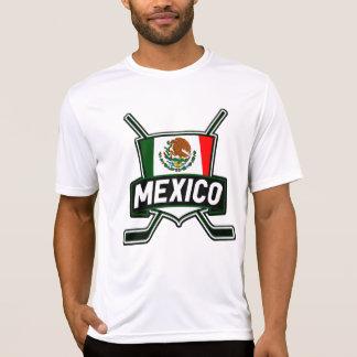 Bandera del hockey sobre hielo de México Camiseta