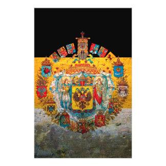 Bandera del imperio ruso folleto 14 x 21,6 cm