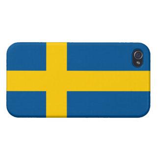 Bandera del iPhone listo 4 de Suecia iPhone 4 Cárcasa