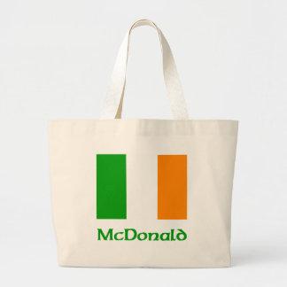 Bandera del irlandés de McDonald Bolsa Tela Grande