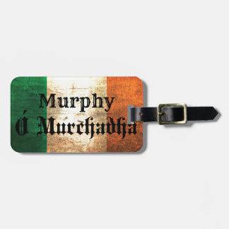 Bandera del irlandés de Murphy Etiqueta Para Maletas