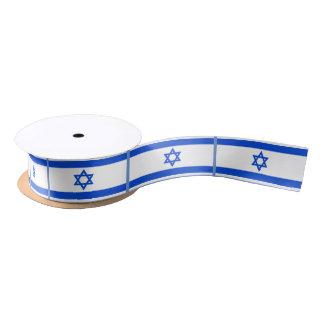 Bandera del israelí lazo de raso