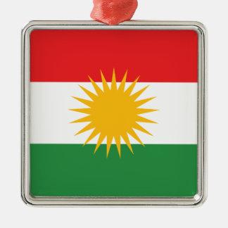 Bandera del Kurdistan; Kurd; Kurdo Adorno Navideño Cuadrado De Metal
