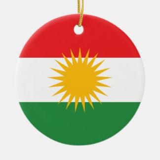 Bandera del Kurdistan; Kurd; Kurdo Adorno Navideño Redondo De Cerámica