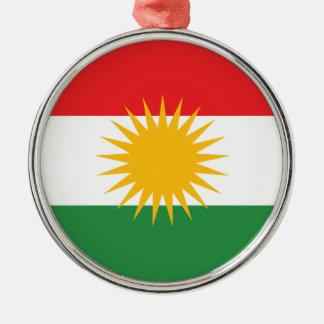 Bandera del Kurdistan; Kurd; Kurdo Adorno Navideño Redondo De Metal