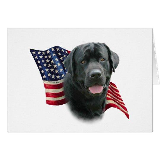 Bandera del labrador retriever (negro) tarjeta de felicitación