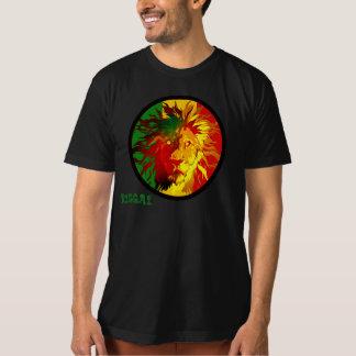 bandera del león del reggae del rasta camiseta