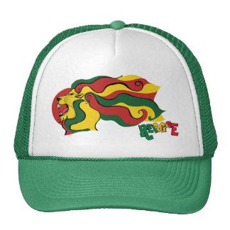 bandera del león del reggae del rasta gorras de camionero