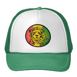 bandera del león del reggae del rasta gorras