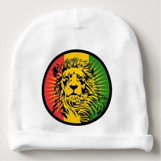 bandera del león del reggae del rasta gorrito para bebe