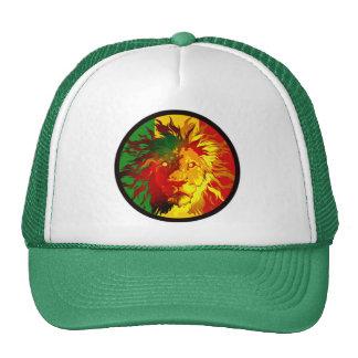 bandera del león del reggae del rasta gorros